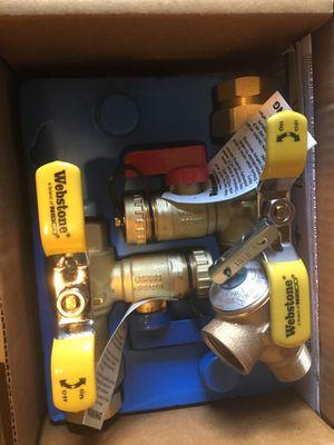 Webstone tankless water heater valve kit for Sale in Seattle, WA