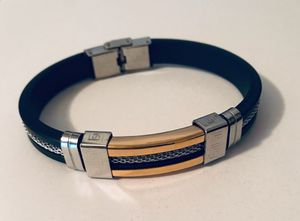 Beautiful silver and gold stainless steel unisex bracelet bangle wristbands for Sale in Orlando, FL
