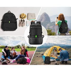Brand New $12 Ultra-Light (Weight 11oz) Hiking Backpack Waterproof Travel Rucksack, Double Zip Foldable (30L) for Sale in Montebello, CA