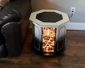 Custom End Tables pair/set with accent lighting LOCAL ARTIST for Sale in Charleston, WV
