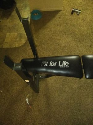 Fit for life weight bench for Sale in Lansing, MI