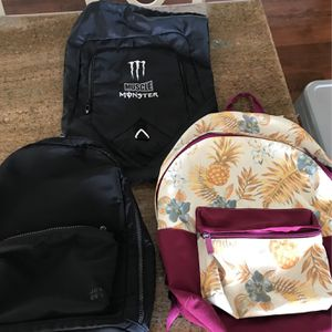 Excellent Backpacks (3) Like New Condition for Sale in Ladera Ranch, CA