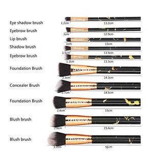 10 pcs pro makeup brush set full face makeup brush set with cosmetic bag for Sale in Los Angeles, CA