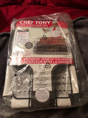 Chef Tony Healthy Cooking Bacon Pan for Sale in Monaca, PA