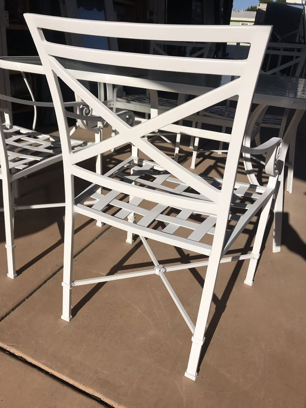 Patio Furniture Table 48 Four Chairs Umbrella For Sale In