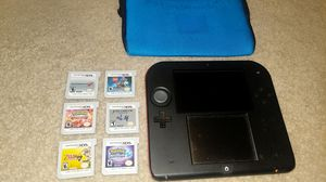 Nintendo 2ds+games+carrying case on discount for Sale in Louisville, CO