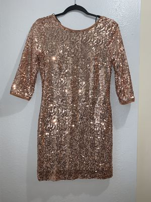 Rose gold sequins dress for Sale in Los Angeles, CA