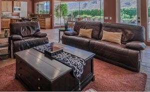 Leather recliner sofa and chair for Sale in Rancho Mirage, CA