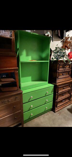 Green dresser and shelf for Sale in Stockton, CA