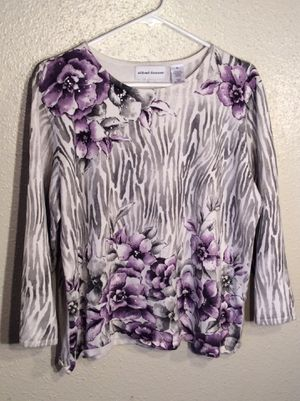 Like New Floral Women's Alfred Dunner Long Sleeve Sweater Top Tunic in package - size XL for Sale in Austin, TX
