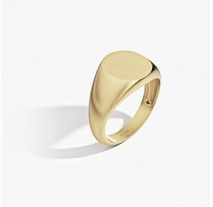 Men's Signet Ring Round Solid Silver With Thick 18k Gold Coating for Sale in Charlotte, NC