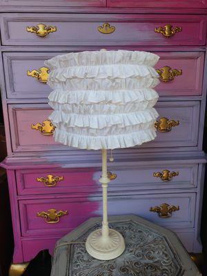 "26"" Lamp Light Ruffled Lamp for Sale in St. Petersburg, FL"