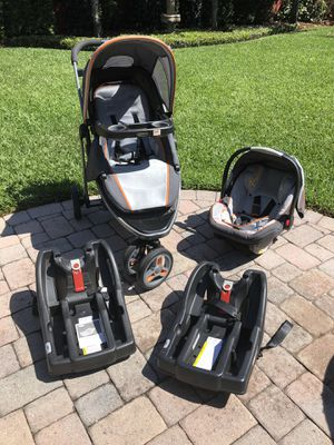 Graco stroller and car seat with two car seat bases for Sale in Orlando, FL