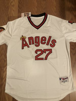Mike Trout LA Angels Men's White Throwback Pullover Jersey 2XL for Sale in Lawndale, CA