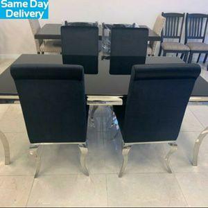 💥👌Ada Black Glass Dining Set | D858DT by Global for Sale in Arlington, VA