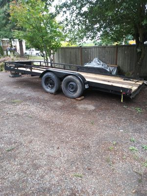 16' deck car trailer for Sale in Bonney Lake, WA