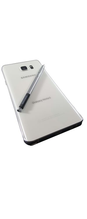 64GB A.++ Pearl white Samsung Galaxy Note5 Unlocked works w/ Anny world company Android Cell Phone Tmobile h20 boost metro pcs at&t verizon sprint att for Sale in Miami, FL