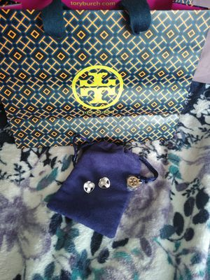 Authentic Tory Burch earrings with pouch and bag for Sale in Belle Isle, FL
