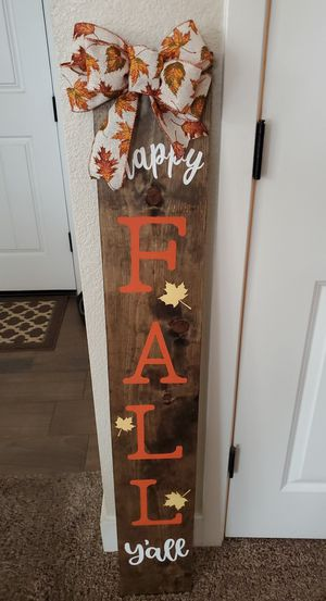 Fall sign for Sale in Valley Home, CA