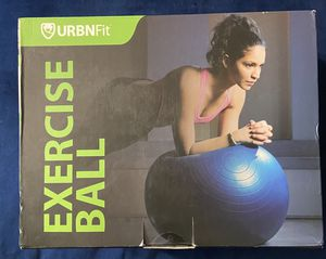 URBNFit Exercise Ball for Fitness - Workout Guide & Quick Pump Included for Sale in Oakland Park, FL