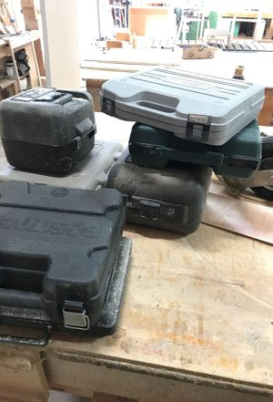 Old empty power tool boxes for Sale in Orlando, FL