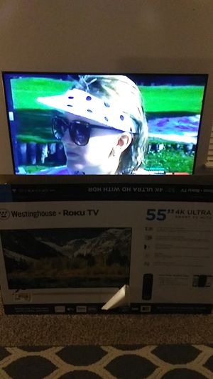 55 inch Westinghouse ROKU TV w/remote for Sale in Silverdale, WA