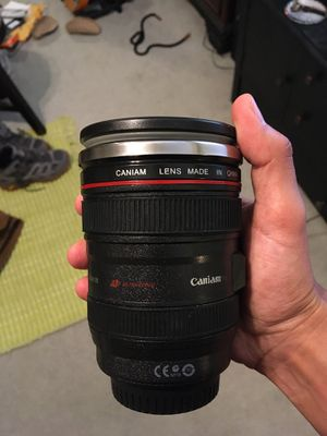 Canon Caniam stainless steel camera lens mug for Sale in Artesia, CA