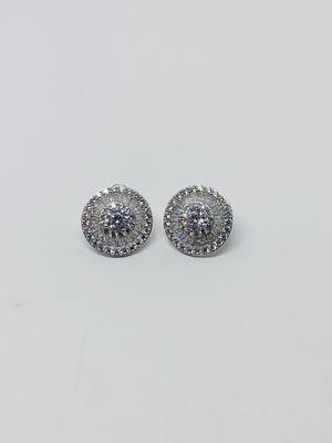 Sterling Silver 925 Men or Women Stud Earrings Aretes de Plata for Sale in Houston, TX