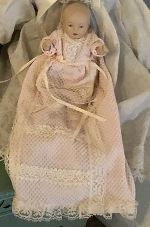 Antique tiny baby doll with jointed arms and legs for Sale in Grayslake, IL