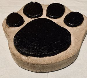 """Large paw print stepping stone painted 13"""" cement for Sale in Myerstown, PA"""