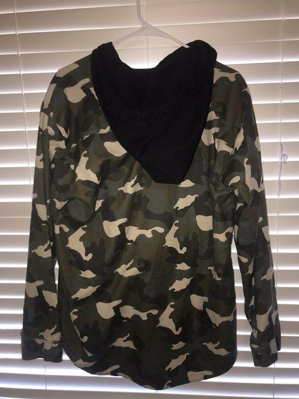 Women's 14 Long jean jacket hoodie