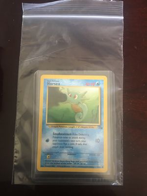 Pokemon card horsea first edition original base set for Sale in Santa Ana, CA