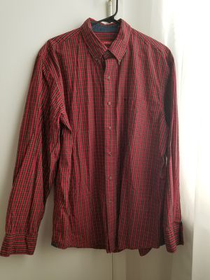Izod Mens Red,Blk,Yellow Plaid Dress Shirt for Sale in Philadelphia, PA