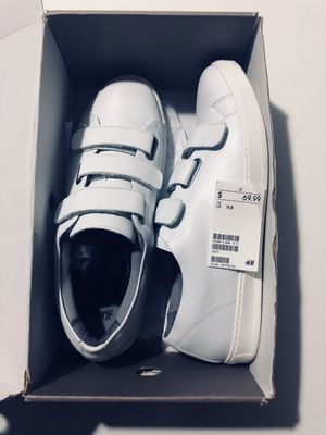 Only $25!!! Real leather!!! All white party/summer shoes!!! New with box!!! H&M premium quality genuine leather. Size 11.5 for Sale in Atlanta, GA