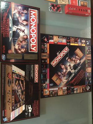Monopoly- Stranger Things Edition Board Game for Sale in Glendale, AZ