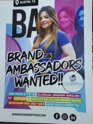 Brand Ambassador for Sale in Austin, TX
