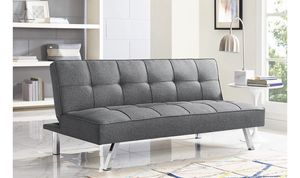Serta 3-Seat Multi-function Upholstery Fabric Futon Sofa, Charcoal New for Sale in Modesto, CA