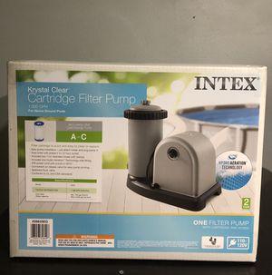 Intex 1500 GPH Krystal Clear Cartridge Pool Filter Pump 28635EG 635T for Sale in Garland, TX