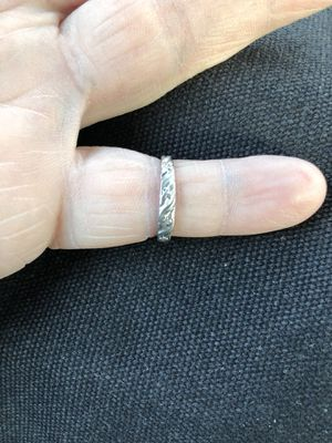 New. 14k white gold women's band ring. Beautiful and elegant. Great for everyday or even as a promise ring or alternative wedding band. Great gif for Sale in Fullerton, CA