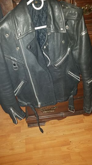 Hein gericke leather motorcycle jacket for Sale in Tampa, FL