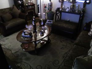 Coffee and a in table and a couch and a chair in a half set and a Ottoman for Sale in Portland, OR
