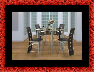 Counter height glass dining table with 4 chairs for Sale in Washington, DC