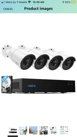 Reolink 4CH 4MP PoE-Security-Camera-System, 4pcs Wired 4MP Outdoor PoE IP Cameras, 4-Channel NVR with 1TB HDD for Home and Business 24/7 Recording for Sale in Biscayne Park, FL