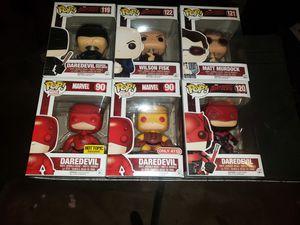 Marvel Funko Pop Lot of 6 Daredevil Kingpin Figures for Sale in Hartford, CT