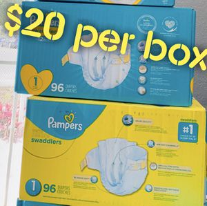 Pampers diapers size 1 $20 per box for Sale in Long Beach, CA