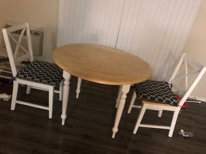 Wooden drop leaf table and two chairs for Sale in Hayward, CA