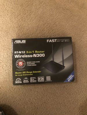 Fast ASUS N300 Router for Sale in Nolensville, TN