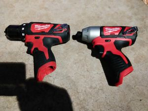 DRILL SET M12 MILWAUKEE BATTERY NOT INCLUDED for Sale in Phoenix, AZ
