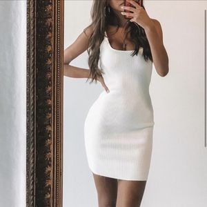 GRACIE KNIT WHITE BODYCON DRESS FROM PRINCESS POLLY for Sale in Beaverton, OR