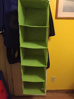 5 shelf hanging closet organizer for Sale in Tampa, FL
